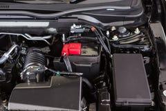 Schließen Sie herauf Detail des Automotors stockfotos