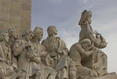 Schließen Sie herauf Detail des Monuments der Entdeckungen Lizenzfreie Stockfotos