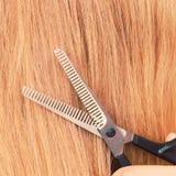 Schließen Sie herauf Detail Spezielle Scheren, die Haar schneiden Stockbilder