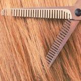 Schließen Sie herauf Detail Spezielle Scheren, die Haar schneiden Stockfotos