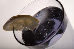 Schließen Sie herauf Detailglas reines Wasser mit Zitrone Stockbild