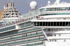 Schließen Sie herauf Details der Struktur von cruiseship Ventura lizenzfreies stockbild