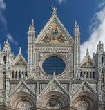 Schließen Sie herauf die Ansicht von Santa Maria catedral in Siena Lizenzfreie Stockfotografie