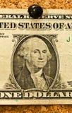 Schließen Sie herauf Dollar auf Korken lizenzfreie stockbilder