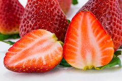 Schließen Sie herauf Erdbeerscheibe Lizenzfreies Stockbild