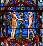 Schließen Sie herauf F des großen Ostfensters in Lincoln Cathedral Stockfotos