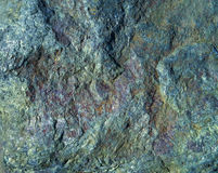Schließen Sie herauf Felsen Felsen mit Moos Lizenzfreie Stockbilder