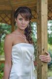 Schließen Sie herauf Foto einer jungen Braut stockbilder