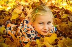 Schließen Sie herauf Foto eines lächelnden Mädchens Stockbild