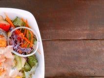 Schließen Sie herauf Fruchtsalat Stockbilder