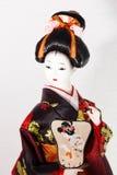 Schließen Sie herauf japanische Puppe Stockbild