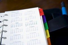 Schließen Sie herauf Kalender lizenzfreie stockfotos
