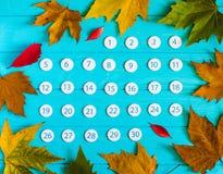Schließen Sie herauf Kalender im November 2017 Lizenzfreies Stockfoto