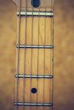 Schließen Sie herauf Makro der Gitarrenschnur-Weinleseart Stockfoto