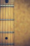 Schließen Sie herauf Makro der Gitarrenschnur-Weinleseart Lizenzfreie Stockfotografie