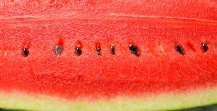 Schließen Sie herauf neuen roten Wassermelonenhintergrund lizenzfreie stockbilder