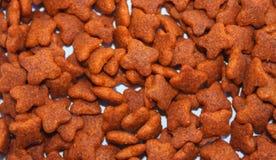 Schließen Sie herauf orange Lebensmittelhund Stockbild