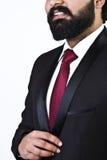 Schließen Sie herauf Porträt des Geschäftsmannes beim Lächeln Stockbilder