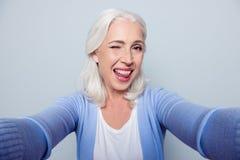 Schließen Sie herauf Porträt des glücklichen netten herrlichen reizend beautifu Lizenzfreie Stockbilder