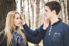 Schließen Sie herauf Portrait der attraktiven jungen Paare Lizenzfreies Stockbild