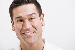 Schließen Sie herauf Portrait des attraktiven Mannes Stockbilder