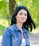 Schließen Sie herauf Portraitfrau lizenzfreie stockfotografie