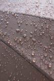 Schließen Sie herauf Regentropfen auf Regenschirm Lizenzfreie Stockfotos