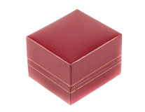 Schließen Sie herauf roten Kasten Stockfotos