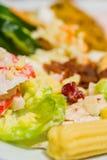 Schließen Sie herauf Salat Lizenzfreie Stockbilder