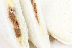 Schließen Sie herauf Sandwich drei Lizenzfreies Stockfoto
