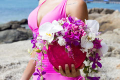 Schließen Sie herauf schöne Blumen des Porträtblumenstraußes Lizenzfreie Stockfotografie
