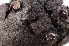 Schließen Sie herauf Schokoladenschokoladenkuchen Lizenzfreie Stockfotografie