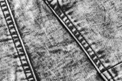 Schließen Sie herauf Schuß Baumwollgewebe eines Jeansdetails stockbilder