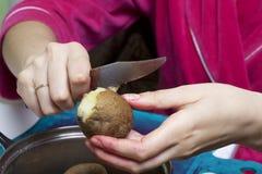 Schließen Sie herauf Schuß Russische Rezepte Kochen von Stadien Lizenzfreie Stockfotografie