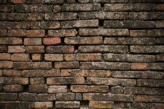 Schließen Sie herauf Schuß Ziegelsteinhintergrund und leerer Bereich für Text Wandziegelstein im Retrostil alter Ziegelstein- ode Lizenzfreie Stockbilder