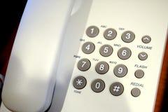 Schließen Sie herauf Schuss der grauen Telefontastatur Lizenzfreies Stockfoto