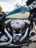 Schließen Sie herauf Schuss einer Harley Davidson-Motorradmaschine stockfotos