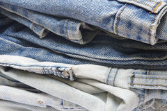 Stapel Jeans Stockfoto