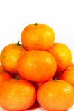Schließen Sie herauf Stapel der frischen Mandarine Lizenzfreies Stockfoto