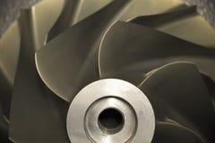 Schließen Sie herauf Strahlung der Flächen-, Gasmotortechnologie, der Turbinentechnologie für Maschine oder des Generators stockfoto
