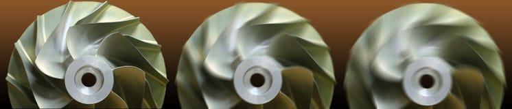 Schließen Sie herauf Strahlung der Flächen-, Gasmotortechnologie, der Turbinentechnologie für Maschine oder des Generators vektor abbildung