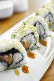 Schließen Sie herauf Sushi vom Thunfisch und vom Reis Lizenzfreies Stockbild