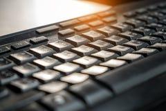 Schließen Sie herauf Tastatur Weichzeichnung und verwischte Stockbilder