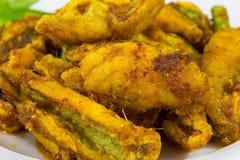Schließen Sie herauf thailändisches Lebensmittel gebratenen Fischcurry Lizenzfreies Stockfoto