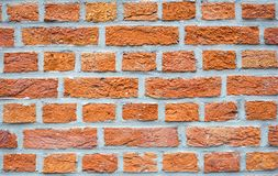 Schließen Sie herauf Wand des roten Backsteins Lizenzfreie Stockfotografie