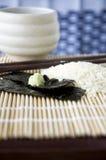 Schließen Sie herauf Wasabi auf Meerespflanze Lizenzfreie Stockbilder