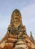 Schließen Sie herauf Wat Chai Watthanaram Stockfoto