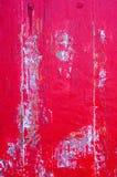 Schließen Sie oben, alte hölzerne rote Tür Stockbild