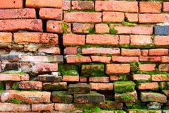 Schließen Sie oben, alte orange Backsteinmauer der Beschaffenheit Lizenzfreies Stockfoto