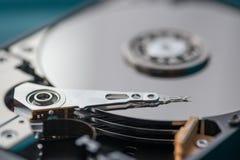 Schließen Sie oben auf geöffnetem Festplattenlaufwerk Lizenzfreie Stockfotografie